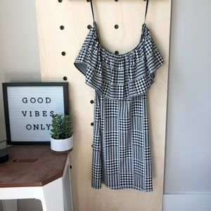 Urban Outfitters off-shoulder gingham dress
